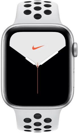 Часы Apple Watch Nike+ S5 GPS 44mm Silver Aluminum Case with Pure Platinum/Black Sport Band (MX3V2)