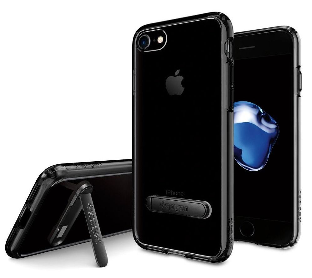 SGP Чехол iPhone 7 Ultra Hybrid S Jet Black, картинка 3