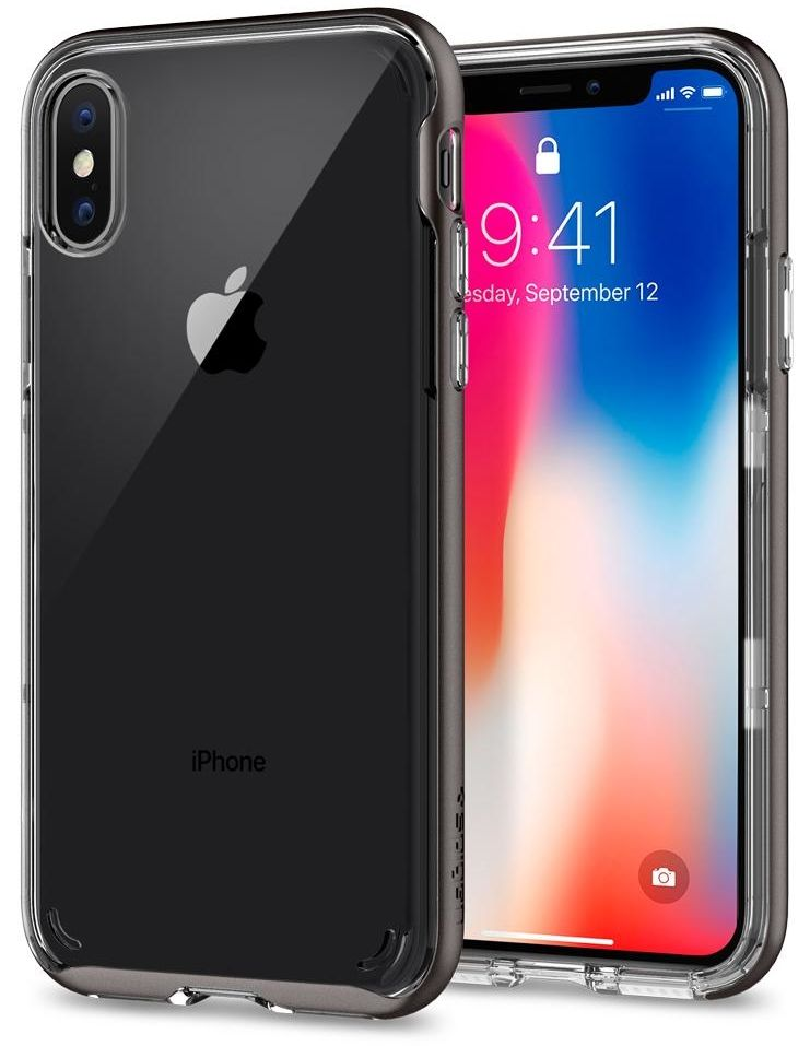 Чехол SGP iPhone X Neo Hybrid Crystal Gunmetal