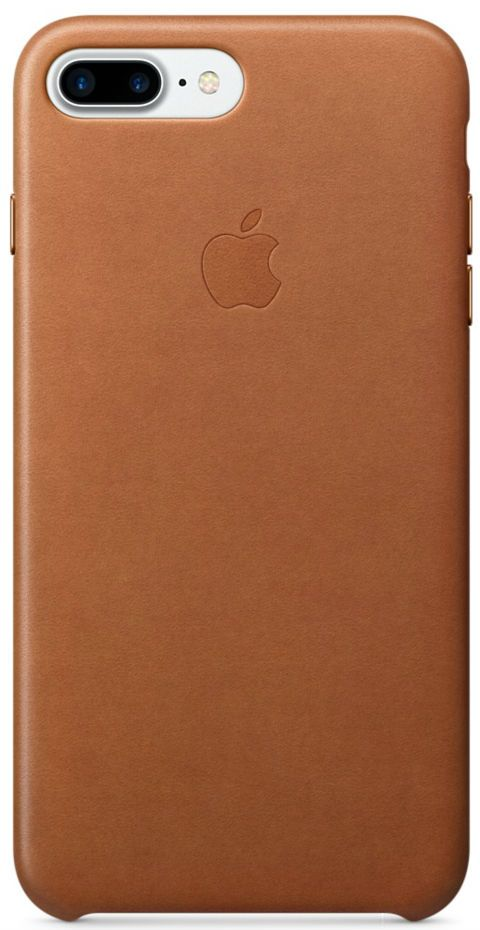 Кожаный чехол Apple iPhone 7/8 Plus Leather Saddle Brown, слайд 1