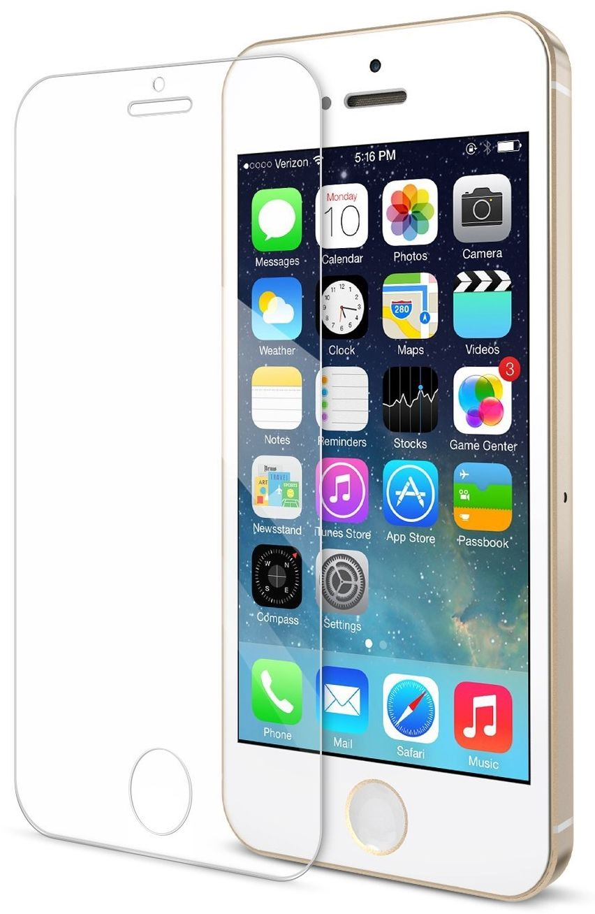 Защитное стекло Tempered Glass PRO iPhone 5S/SE - Clear, слайд 1