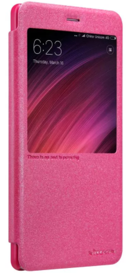 Чехол Nillkin Sparkle Leather case Xiaomi Note 4X - Pink