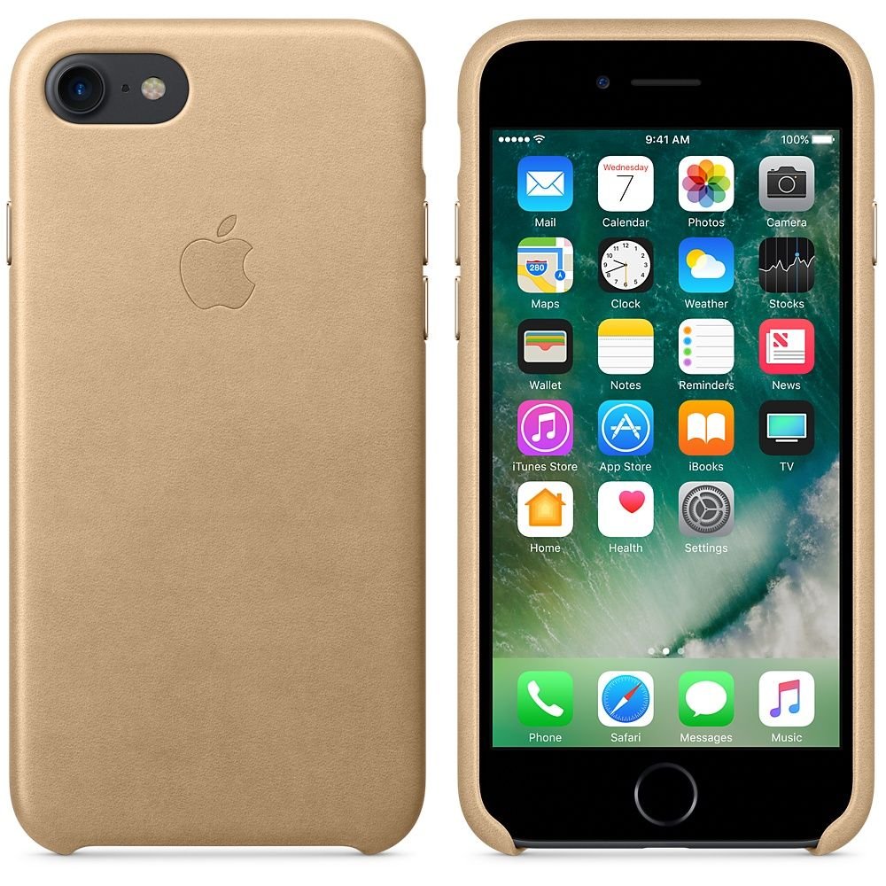 Кожаный чехол Apple iPhone 7/8 Leather Case Tan, слайд 2