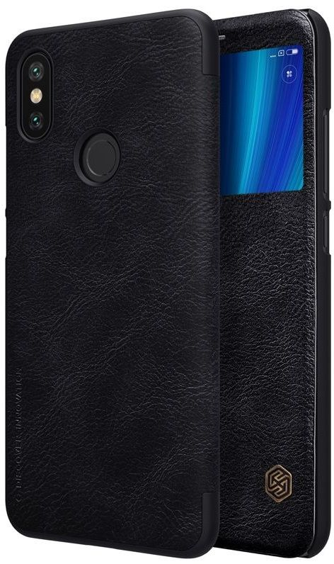 Чехол кожаный Nillkin QIN Leather case Xiaomi Mi A2 - Black