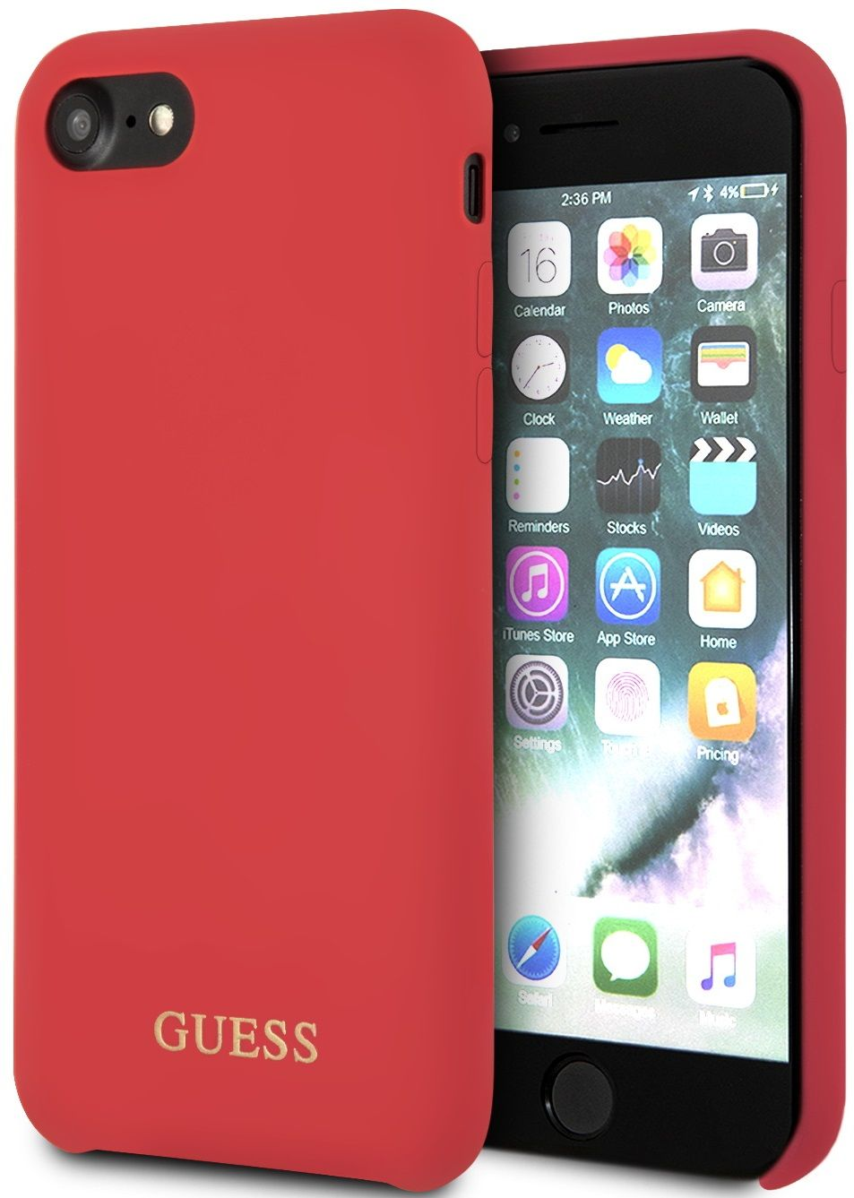 Чехол GUESS iPhone 7/8 Silicone Collection Red