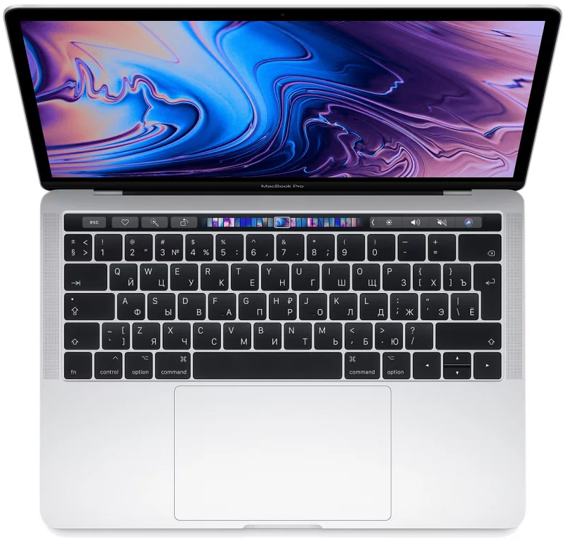 "Ноутбук Apple MacBook Pro 13.3"" Mid 2018 (IPS 2560x1600/Intel Core i5 8259U 2.3ГГц/8Гб/256Гб SSD/Intel Iris graphics 655/Mac OS Sierra/Touch Bar) (MR9U2) Silver / Серебристый, картинка 1"