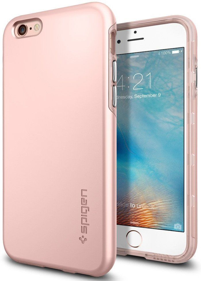 Чехол SGP iPhone 6S Thin Fit Hybrid - Rose Gold