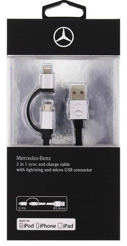 Mercedes Charge Cable 2-1 Lightning and micro USB, картинка 3