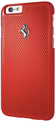 Чехол Ferrari iPhone 6/6S Aluminium Plate Hard - Red