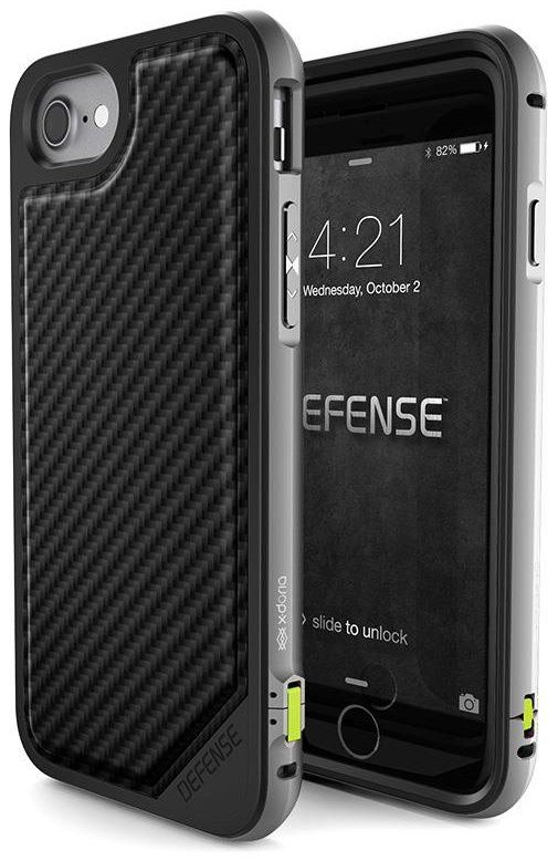 X-DORIA iPhone 7 Defense Carbon - Black, картинка 1