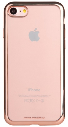 VIVA iPhone 7 Plus Metalico Flex Case TPU Rose Gold, картинка 1