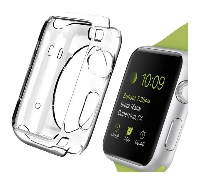 SGP Apple Watch 42mm Selicon Case Liquid - Crystal, картинка 4
