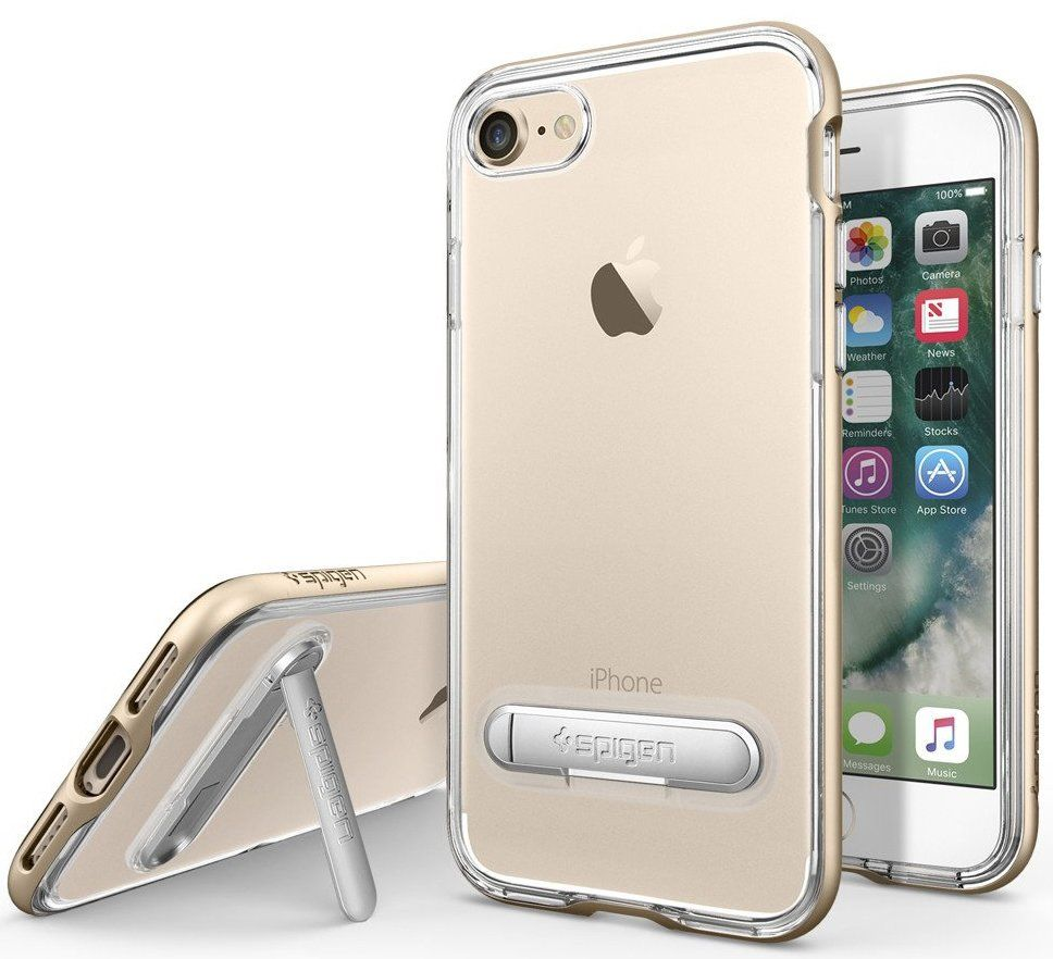 SGP Чехол iPhone 7 Crystal Hybrid Champagne Gold, картинка 1