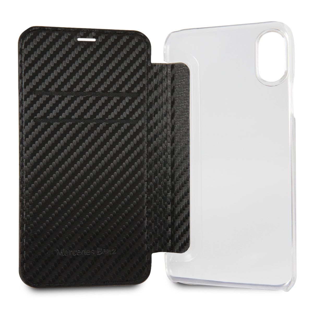 Mercedes iPhone X Dynamic Bookcase Carbon Black, картинка 3