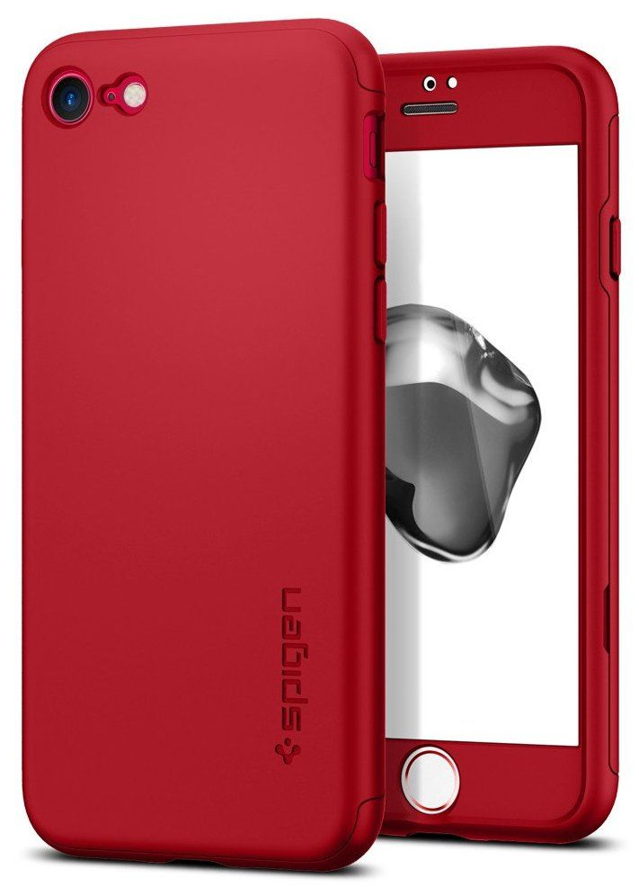 SGP Чехол iPhone 7 Thin Fit 360 Red