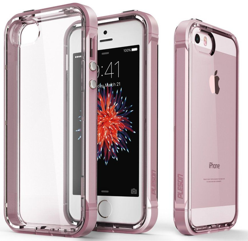 Pleson iPhone 5S/SE ISE Case - Clear/Pink, картинка 2