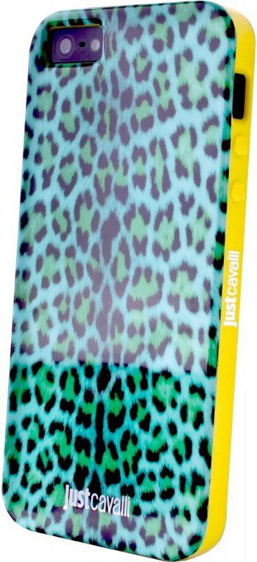 Чехол Just Cavalli iPhone 5 Micro Leopard - Blue