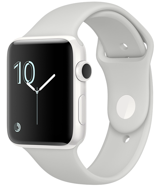 Apple Watch Edition 38mm White Ceramic/Cloud Sport Band (MNPF2), картинка 1