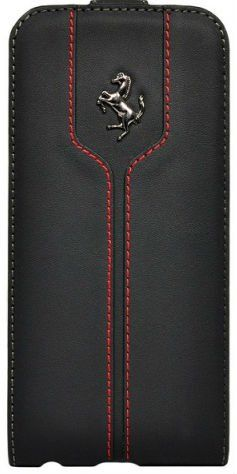 Ferrari iPhone 6 Montecarlo Flip Case - Black, картинка 1