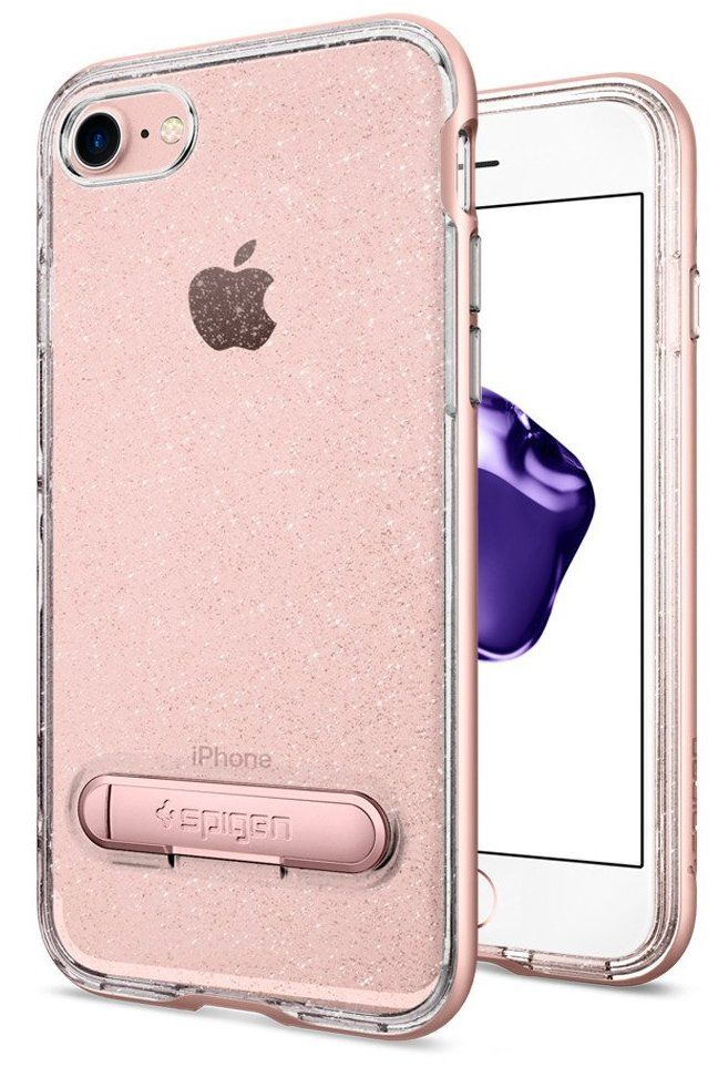 SGP Чехол iPhone 7 Crystal Hybrid Glitter Rose Quartz