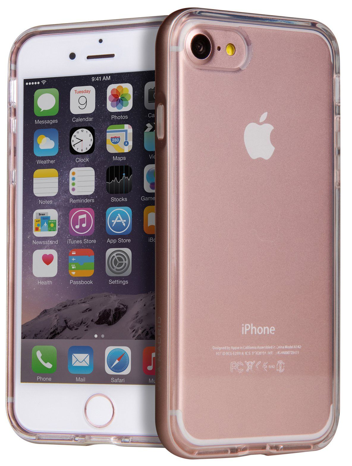 VIVA iPhone 7 Airefit Borde Case TPU Rose Gold, картинка 2