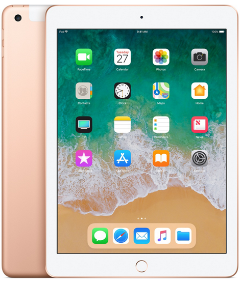 iPad 2018 128GB Wi-Fi + Cellular - Gold