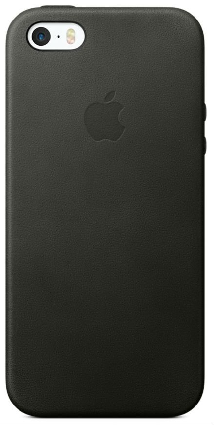 Apple iPhone Leather 5S/SE Case - Black, картинка 1