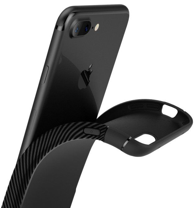 Caseology iPhone 7 Plus Vault Carbon - Black, картинка 3