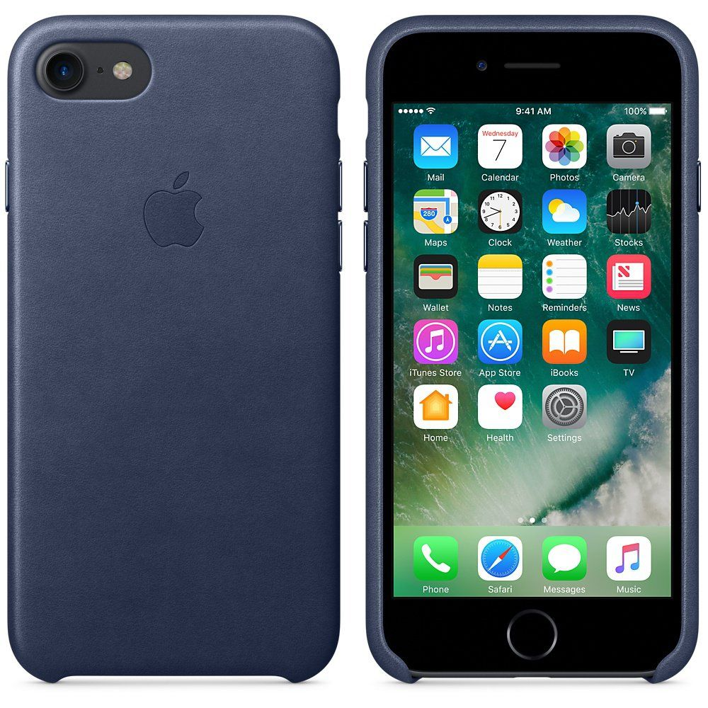 Apple iPhone 7 Leather Case Midnight Blue, картинка 2