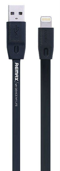 REMAX Full Speed Lightning Cable 1.0m - Black, картинка 1