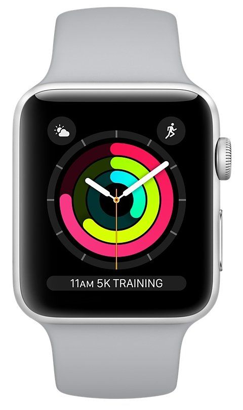Apple Watch S3 (GPS) 38mm Silver Aluminum/Fog Sport Band (MQKU2), картинка 2