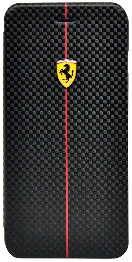 Ferrari iPhone 6 Plus Formula One Booktype - Black, картинка 1