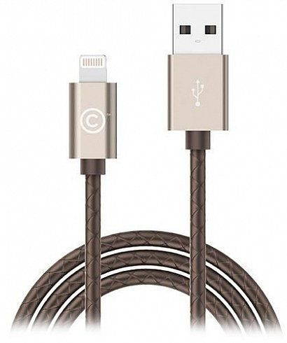 LAB.C Sync Charge Lightning Leather Cable 1.8m - Gold