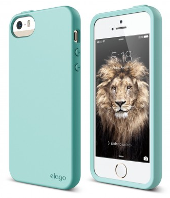 Чехол Elago для iPhone 5S/SE Flex Hard TPU бирюзовый