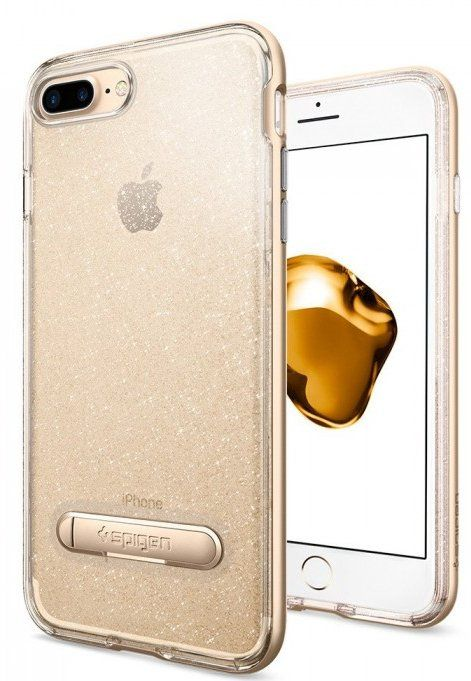 SGP Чехол iPhone 7 Plus Crystal Hybrid Glitter Gold Quartz, картинка 1