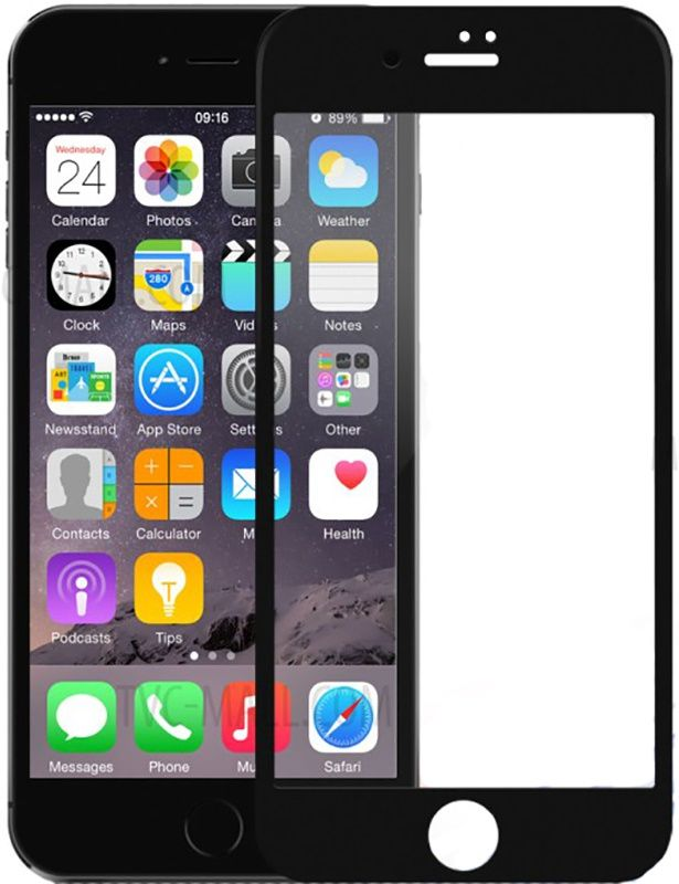 DEVIA 3D Tempered Glass iPhone 8 - Black