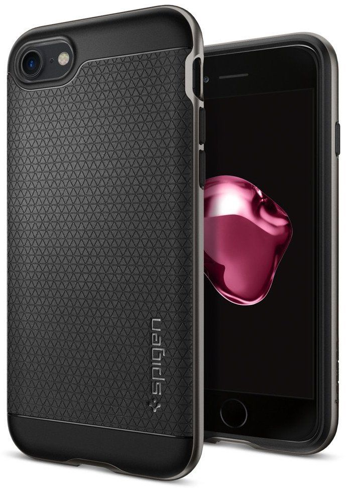 SGP Чехол iPhone 7 Neo Hybrid Gunmetal, картинка 1