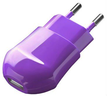 Deppa Classic USB Wall Charger 1.0A - Violet, картинка 1