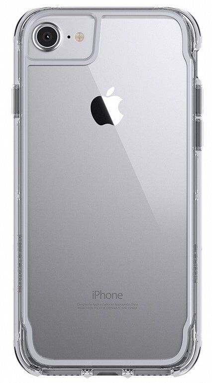 Griffin Survivor Clear case iPhone 7 - Grey, картинка 1