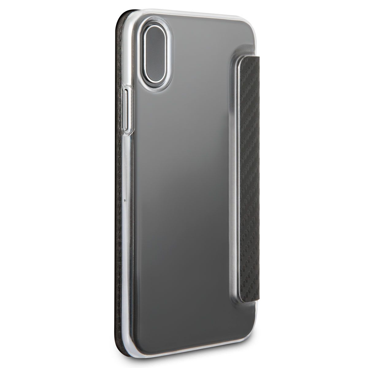 Mercedes iPhone X Dynamic Bookcase Carbon Black, картинка 2