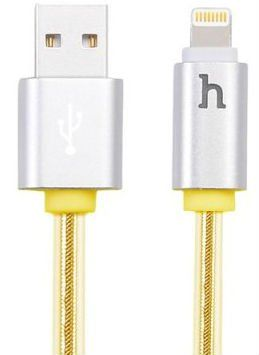 HOCO Lightning to USB Cable 120cm with Smart Indicator - Gold, картинка 1
