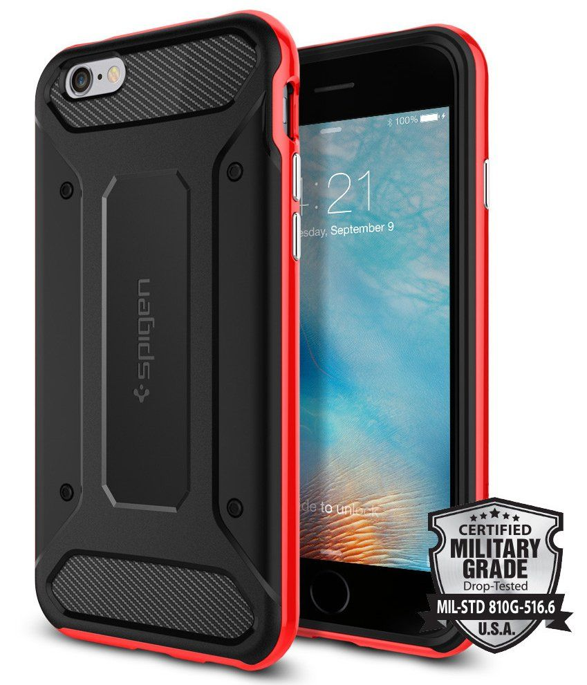 SGP iPhone 6S Neo Hybrid Carbon - Red
