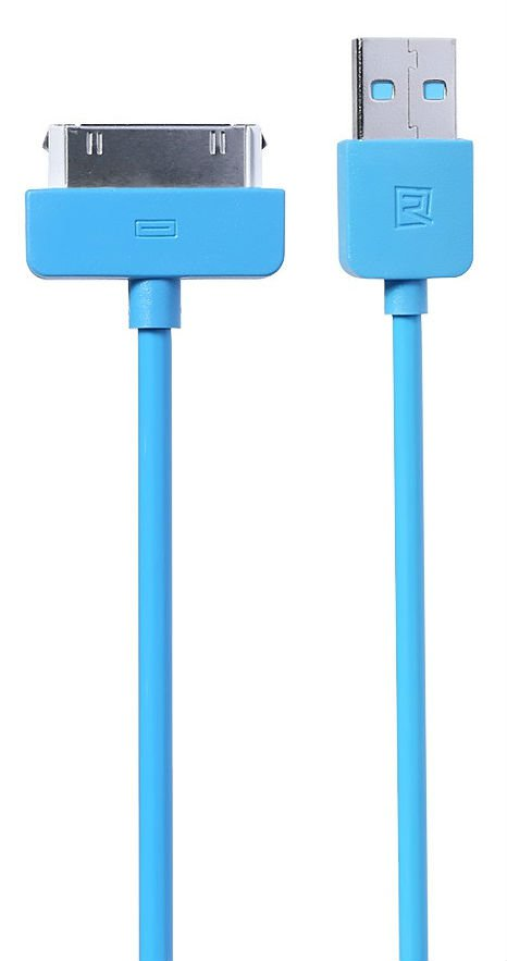 REMAX Speed Data Cable 1.0m iPhone 4/4S - Blue, картинка 1