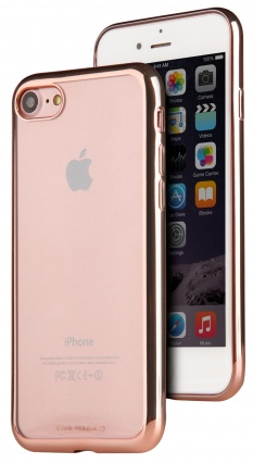VIVA iPhone 7 Plus Metalico Flex Case TPU Rose Gold, картинка 2