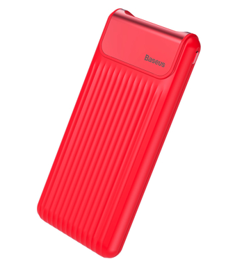 Внешний аккумулятор BASEUS Thin Digital Power Bank 10000 mAh Red, слайд 2
