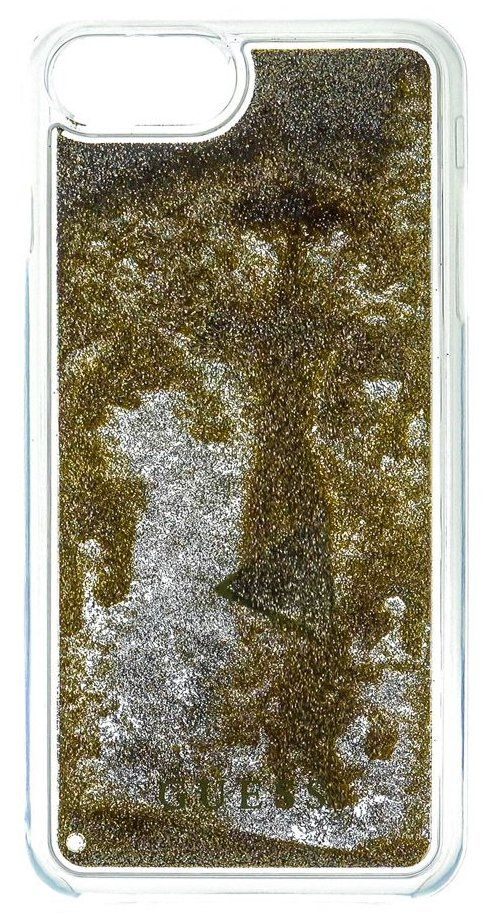 Guess iPhone 7 Liquid Glitter Hard  Gold , картинка 1
