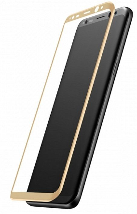 Защитное стекло MAHAZA 3D Tempered Glass Galaxy S8  - Gold, слайд 2
