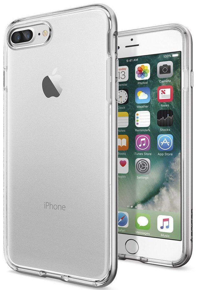 SGP Чехол iPhone 7 Plus Neo Hybrid Crystal Satin Silver