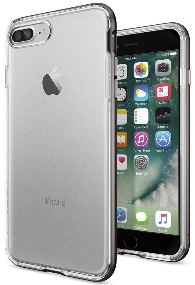 SGP Чехол iPhone 7 Plus Neo Hybrid Crystal Gunmetal, картинка 1