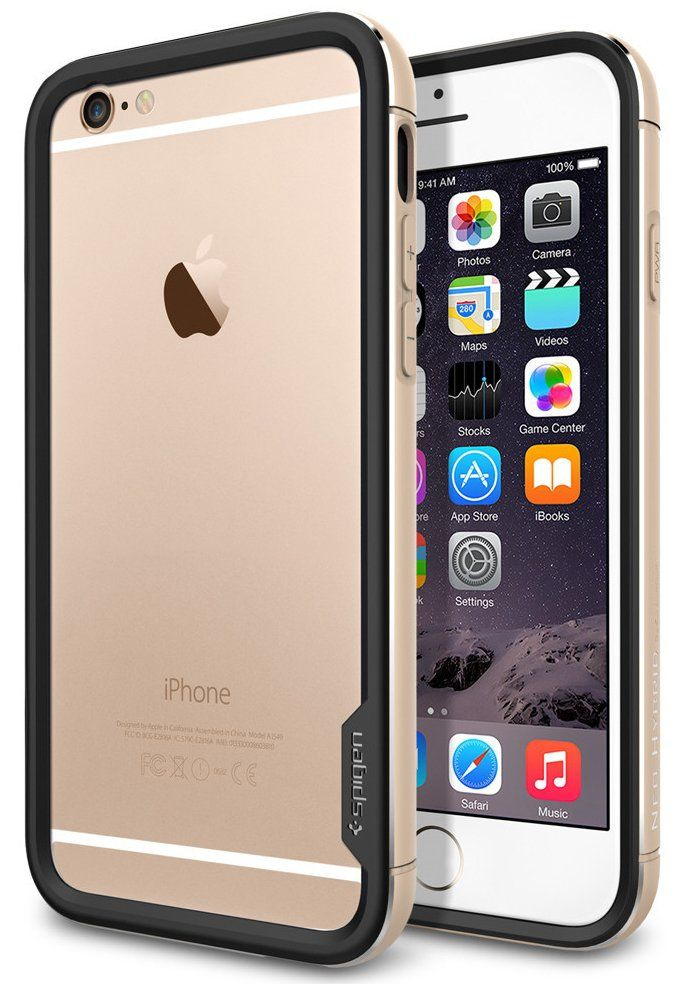 Чехол SGP iPhone 6 Neo Hybrid EX Metal  Champagne Gold